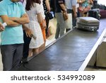 closeup lines of people waiting ... | Shutterstock . vector #534992089