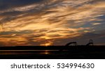 clouds sunset in the sky.   Shutterstock . vector #534994630