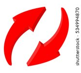 red recycle arrows. 3d... | Shutterstock . vector #534994870