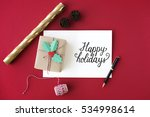christmas cheers celebration... | Shutterstock . vector #534998614