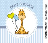 Baby Shower Boy. Giraffe With...