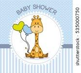Baby Shower Boy. Giraffe With...