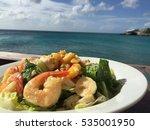 seafood salad healthy foodin... | Shutterstock . vector #535001950