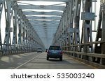 Small photo of Niger Bridge, Onitsha, Asaba, Delta State, Nigeria. 13th April, 2016. The Niger Bridge links Delta State and Anambra State together. It also serves as a boundry between the two state.