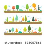 colorful flat tree elements... | Shutterstock .eps vector #535007866