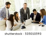 view at young business people... | Shutterstock . vector #535010593