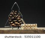 baking tin christmas tree shape ...   Shutterstock . vector #535011100