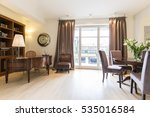spacious elegant study with big ...   Shutterstock . vector #535016584