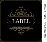 luxury logo template with... | Shutterstock .eps vector #535017403