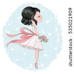 cute girl vector design. for... | Shutterstock .eps vector #535021909