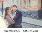 man and woman walking in the... | Shutterstock . vector #535021933