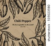 chili package design element.... | Shutterstock .eps vector #535023580