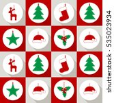 christmas seamless vector... | Shutterstock .eps vector #535023934