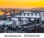 prague bridges over vltava... | Shutterstock . vector #535024198