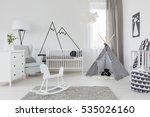 child room with white furniture ... | Shutterstock . vector #535026160