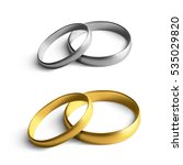 realistic gold and silver... | Shutterstock .eps vector #535029820