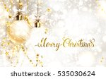 xmas evening festive balls with ... | Shutterstock .eps vector #535030624