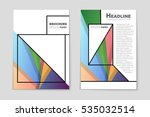 abstract vector layout... | Shutterstock .eps vector #535032514