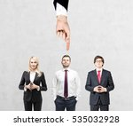 three people are standing... | Shutterstock . vector #535032928