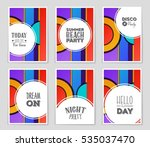 abstract vector layout... | Shutterstock .eps vector #535037470