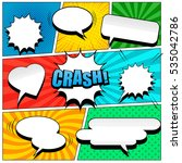 comic book page template in pop ... | Shutterstock .eps vector #535042786