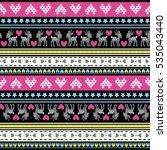 nordic pattern   Shutterstock .eps vector #535043440