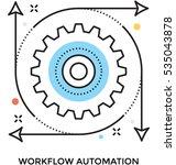 workflow vector icon   Shutterstock .eps vector #535043878