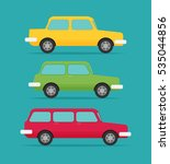 set of cars  vector flat style   Shutterstock .eps vector #535044856