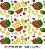 fruit pattern | Shutterstock . vector #535046950