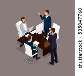 isometric people  businessmen... | Shutterstock .eps vector #535047760