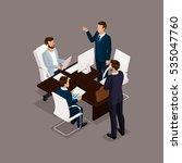 isometric people  businessmen... | Shutterstock .eps vector #535047760