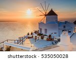 greek sunset | Shutterstock . vector #535050028