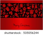 merry christmas greeting card... | Shutterstock .eps vector #535056244