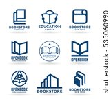 vector book icons  logo design... | Shutterstock .eps vector #535060990