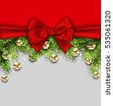 illustration christmas holiday... | Shutterstock .eps vector #535061320