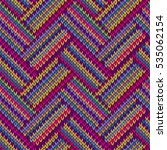 knitted seamless colorful... | Shutterstock .eps vector #535062154