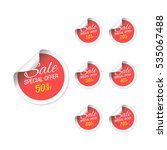 red price sale tags stickers... | Shutterstock .eps vector #535067488