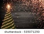 wooden luminous background with ... | Shutterstock .eps vector #535071250
