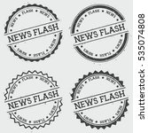 news flash insignia stamp... | Shutterstock .eps vector #535074808