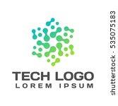 technology logo. technology... | Shutterstock .eps vector #535075183