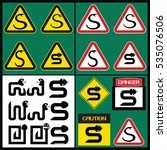 icon safety snake. warning sign ... | Shutterstock .eps vector #535076506