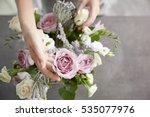 Female Florist Making Beautifu...