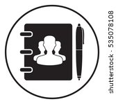 notebook  address  phone book... | Shutterstock . vector #535078108