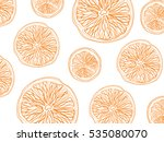 sketch of sliced citrus fruit... | Shutterstock .eps vector #535080070