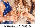 cheers  friends celebrating new ... | Shutterstock . vector #535082284
