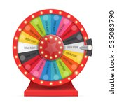 colorful wheel of luck or... | Shutterstock .eps vector #535083790