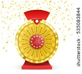 colorful wheel of luck or... | Shutterstock .eps vector #535083844