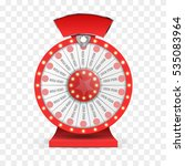 colorful wheel of luck or... | Shutterstock .eps vector #535083964