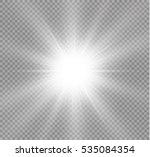 glow light effect. star burst... | Shutterstock .eps vector #535084354