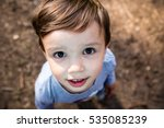 portrait of cute small boy... | Shutterstock . vector #535085239
